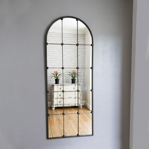Ava Sectioned Metal Window Mirror - mirrors