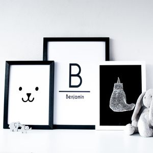 Personalised Children's Print Set