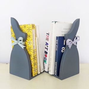 Pair Of Little Grey Rabbit Bookends - bookends