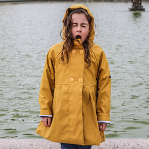 Girl's Yellow Raincoat - children's coats & jackets