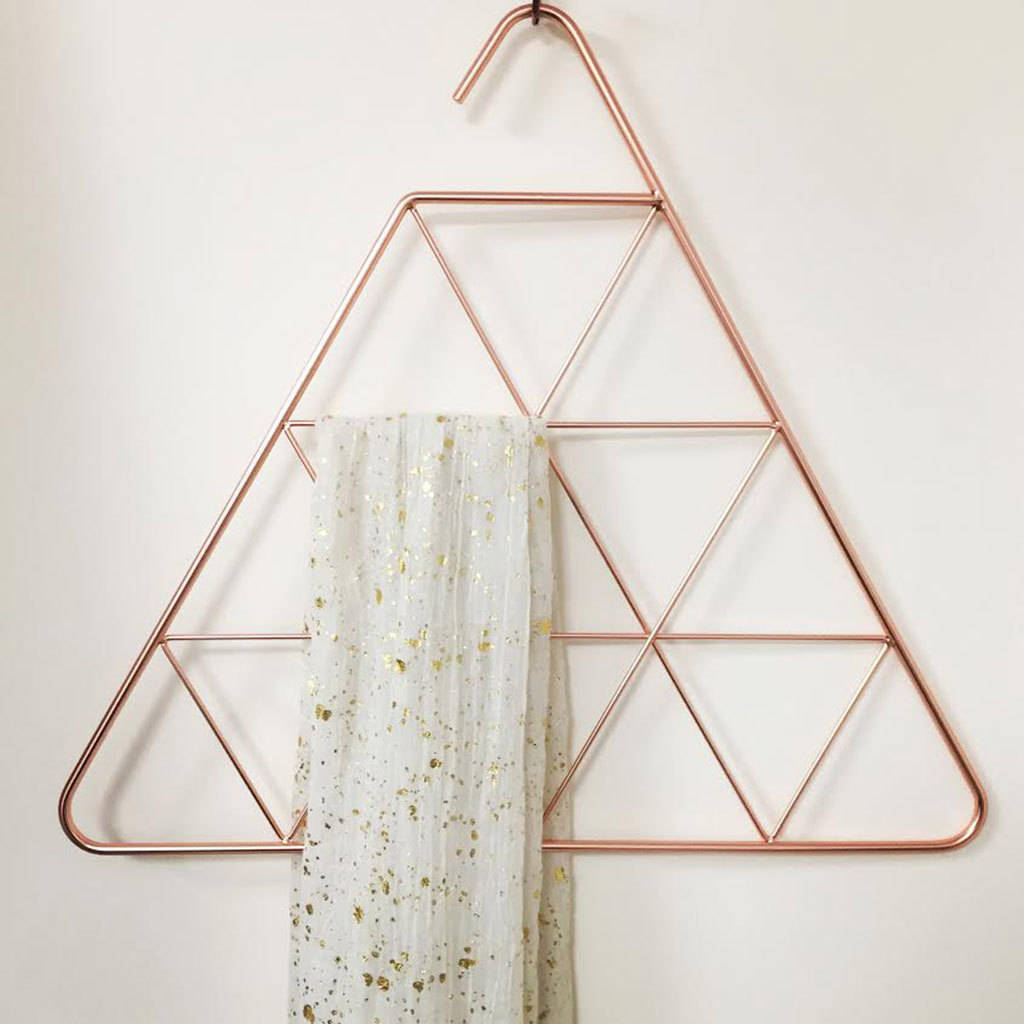Design Scarf Hanger scarf hanger by lisa angel homeware gifts notonthehighstreet com copper triangle