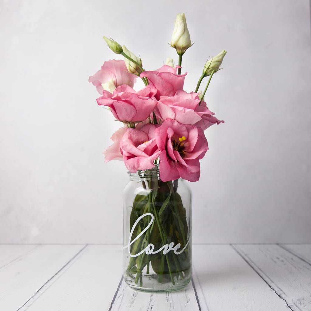 Love Personalised Vase Jar the u0027loveu0027