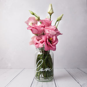 Love Personalised Vase Jar - table decorations