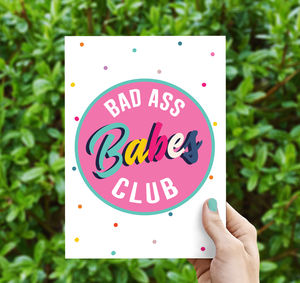Bad Ass Babes Club Greeting Card
