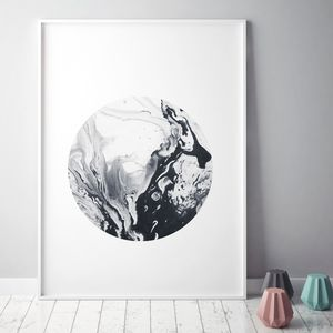 Minimalist Marble Art Print - modern & abstract
