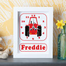 Personalised Boat, Train, Tractor Clocks