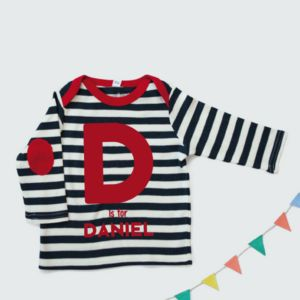 A Is For Long Breton Baby Striped Top