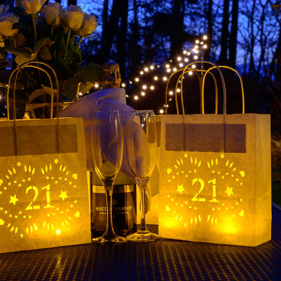 21st Birthday Party Decoration Lantern Bag