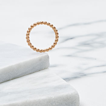 18ct Rose Gold Bobble Ring