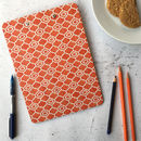 Alta Clipboard, Orange Geometric Pattern