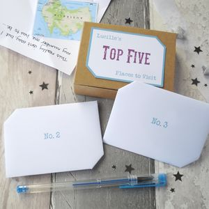 Wanderlust Gift 'Top Five Places To Visit' Keepsake Box