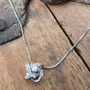 Cubic Zirconia And Sterling Silver 'Knot' Necklace