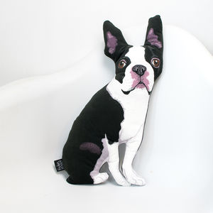 Velvet Boston Terrier Pillow - whatsnew