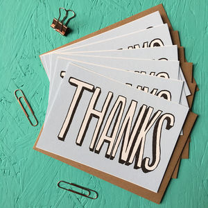 Pack Of Thank You Cards