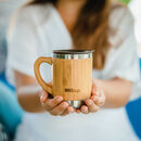 Personalised Reusable Sustainable Bamboo Mug With Lid