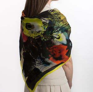 Floral Silk Square Scarf