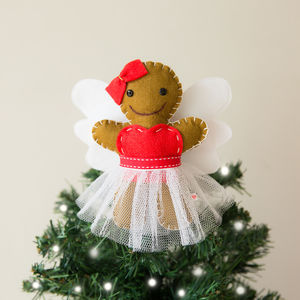 Gingerbread Fairy Christmas Tree Topper