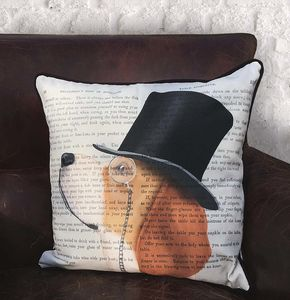 Beagle Cushion, Formal Dog Collection - patterned cushions