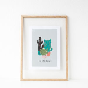 'The Catus Family' Cat Print