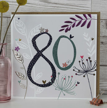 80th Birthday Card Female