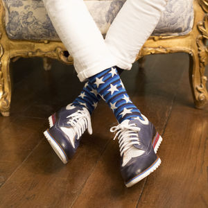 Stars And Stripes Fine Socks - underwear & socks