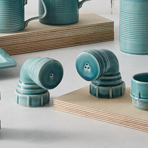 Ceramic Pipe Salt And Pepper Shakers, Free Delivery - kitchen