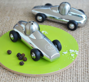 Personalised Racing Car Salt And Pepper Set - kitchen accessories