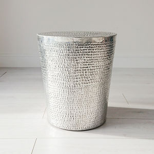 Tambur Aluminium Side Table - furniture