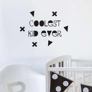 'Coolest Kid Ever' Wall Sticker - gifts: under £25
