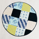 mint and navy patch work play mat aeriel view