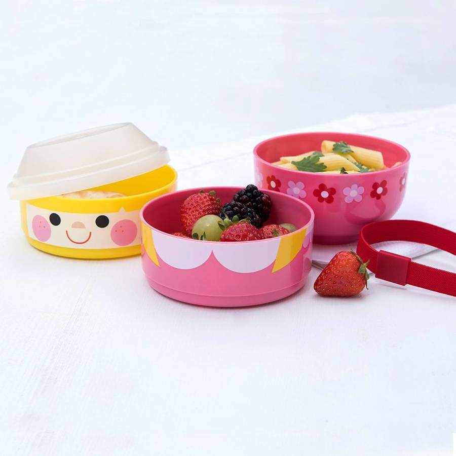 personalised bento three compartment lunch box by little. Black Bedroom Furniture Sets. Home Design Ideas
