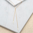 Gold Swinging Arrow Slider Clasp Necklace