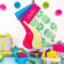 Personalised Name Pineapple Christmas Stockings