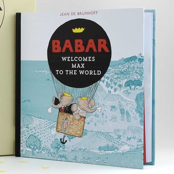 Personalised Babar Welcome To The World Book