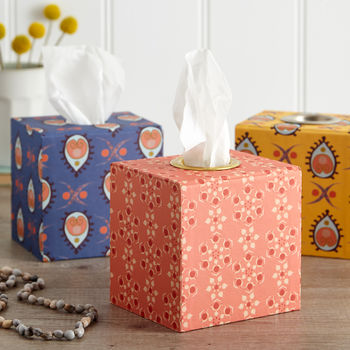 Tissue Box In Colourful Designs
