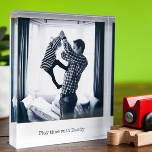 Personalised Photo Acrylic Block - gifts for him