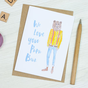 Papa Bear Card - personalised cards