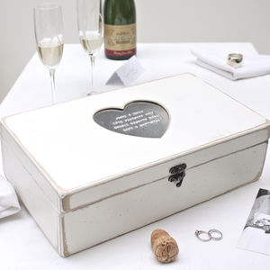 Personalised Heart Keepsake Box - storage & organisers