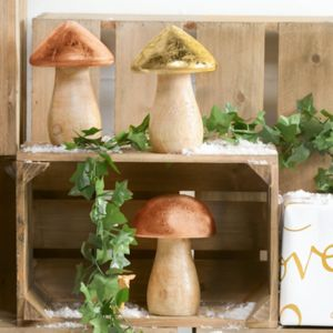 Metallic Finish Toadstool Decorations
