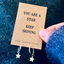 Shining Star Silver Hoop Earrings