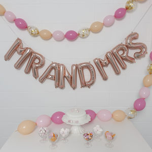 16 Inch Mr And Mrs Rose Gold Balloon Letters - room decorations