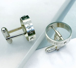 'The Day My Life Changed' Cufflinks - gifts for groomsmen
