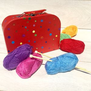 Children's Learn To Knit In A Suitcase - sewing & knitting