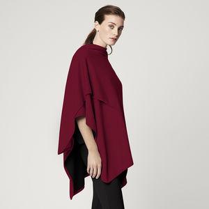Merino Wool Reversible Cape - accessories