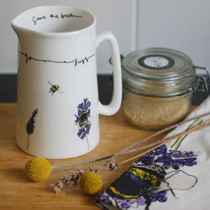 Bee Bone China Pint Jug