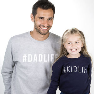 Dad And Me Hashtag Sweatshirt Jumper Set - jumpers & cardigans