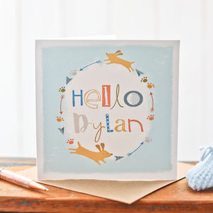 Personalised Card For A New Baby Boy - new baby cards