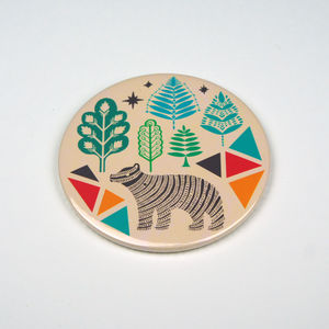 Bear In The Forest Pocket Mirror
