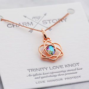 My Charm Story Trinity Love Knot Necklace