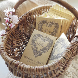 'Sow In Love' Seed Packet Favours